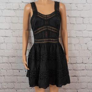 Victoria's Secret crochet inset mini dress